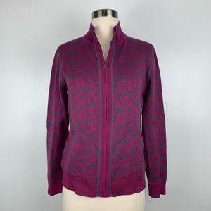Title Nine Zip Up Cardigan Sweater Medium I3891